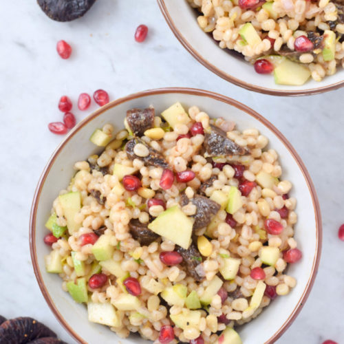 Pearl Barley with Figs, Apple and Pomegranate for Tu B'Shevat